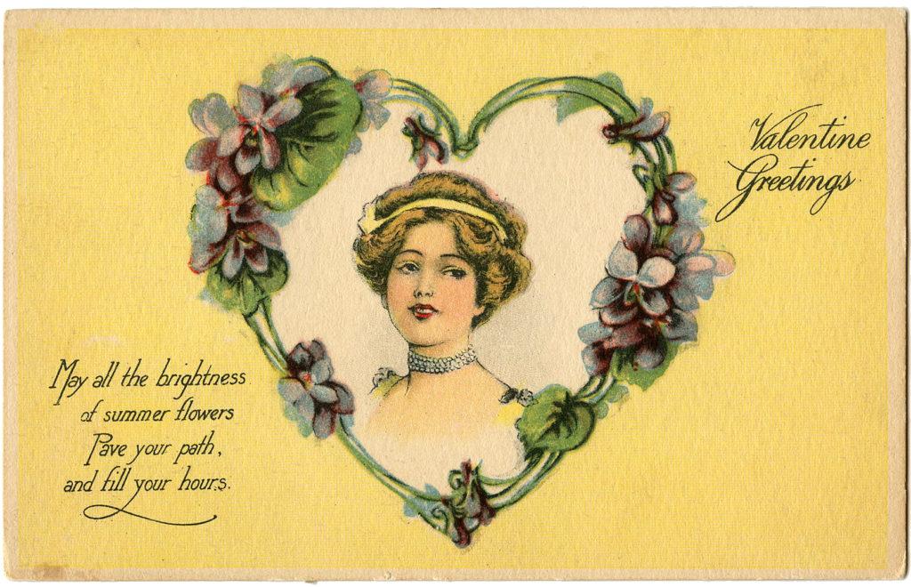 Valentine Violet Lady