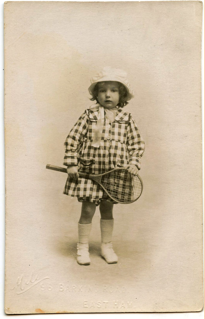 vintage girl tennis racket photograph image