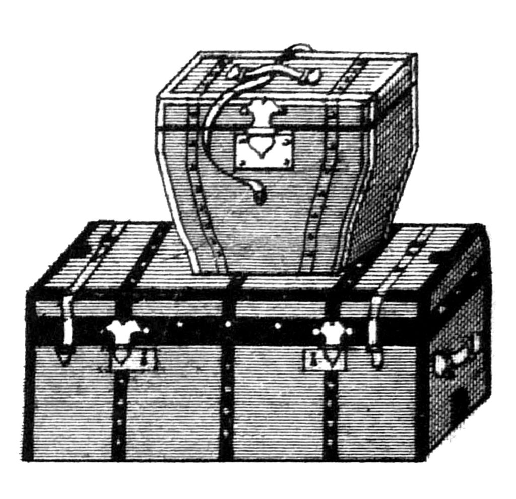vintage trunks stacked clipart