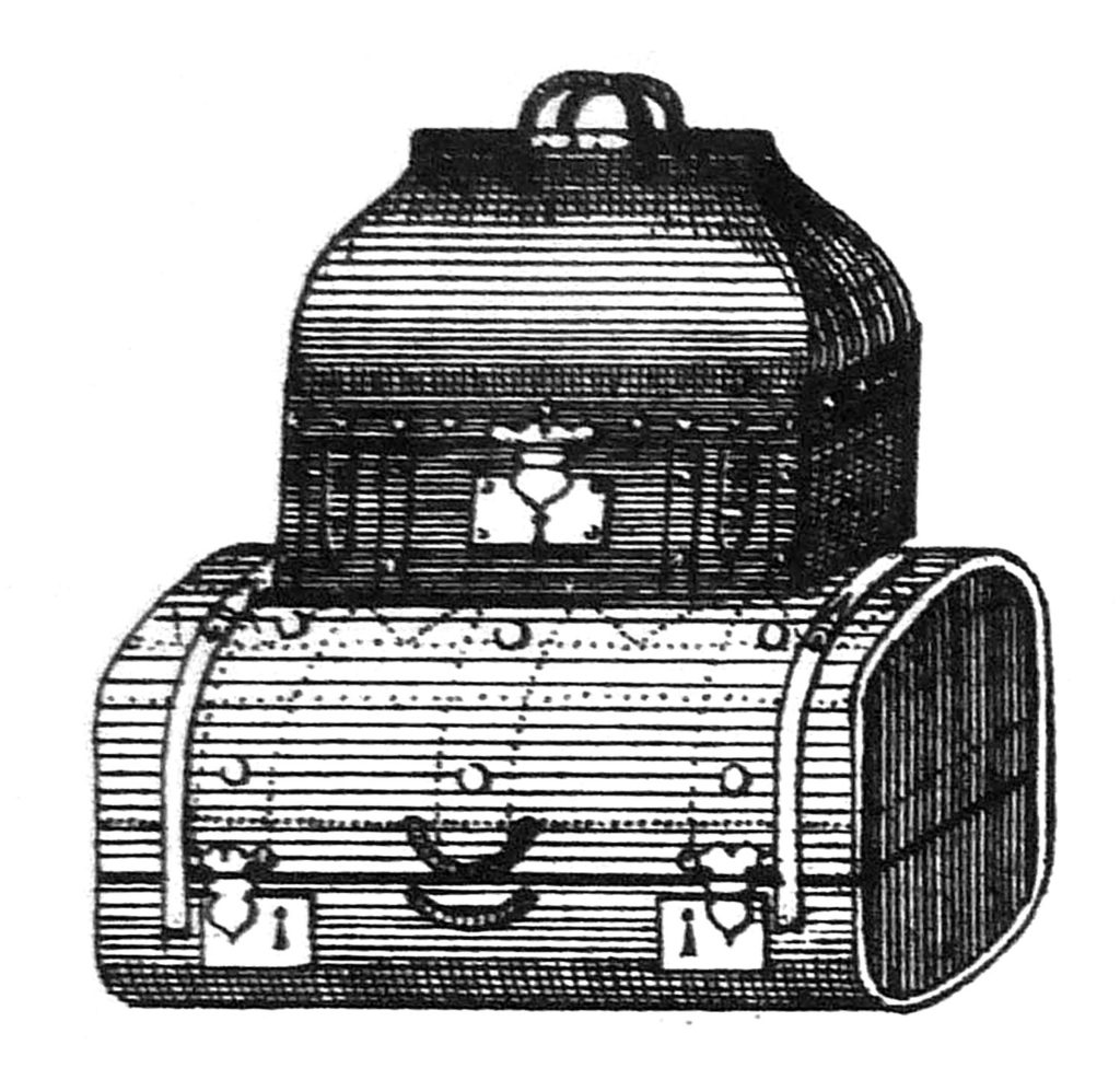 vintage luggage stack clipart