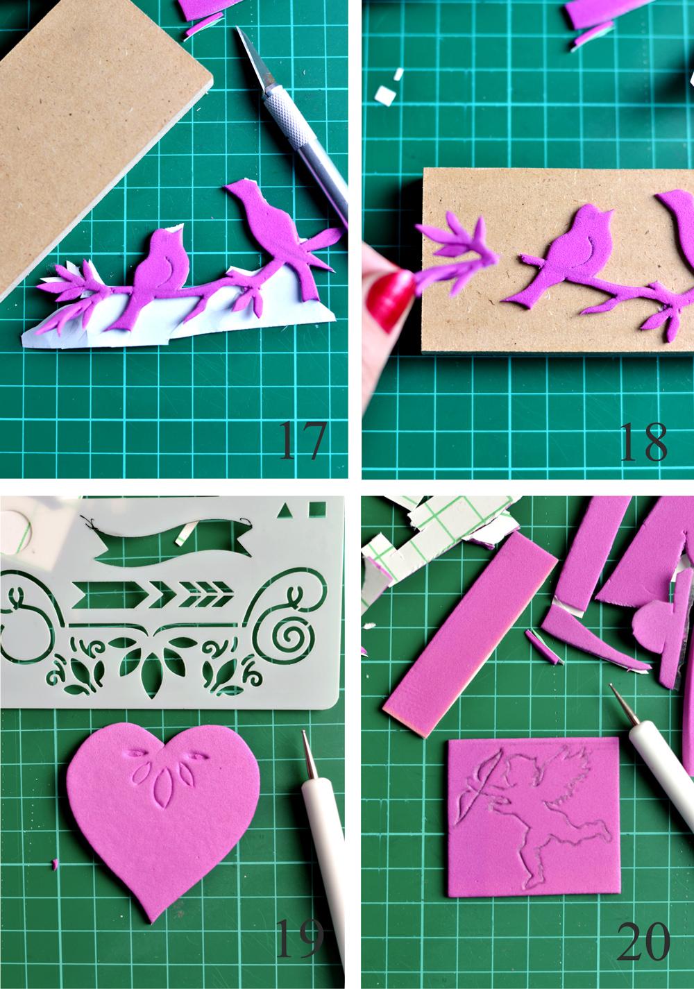 How to make DIY Vintage Foam Stamps