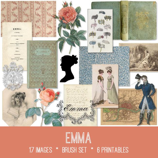 Emma ephemera vintage images
