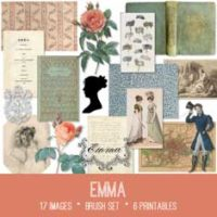 vintage Emma ephemera bundle
