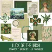 `vintage luck of the irish ephemera bundle