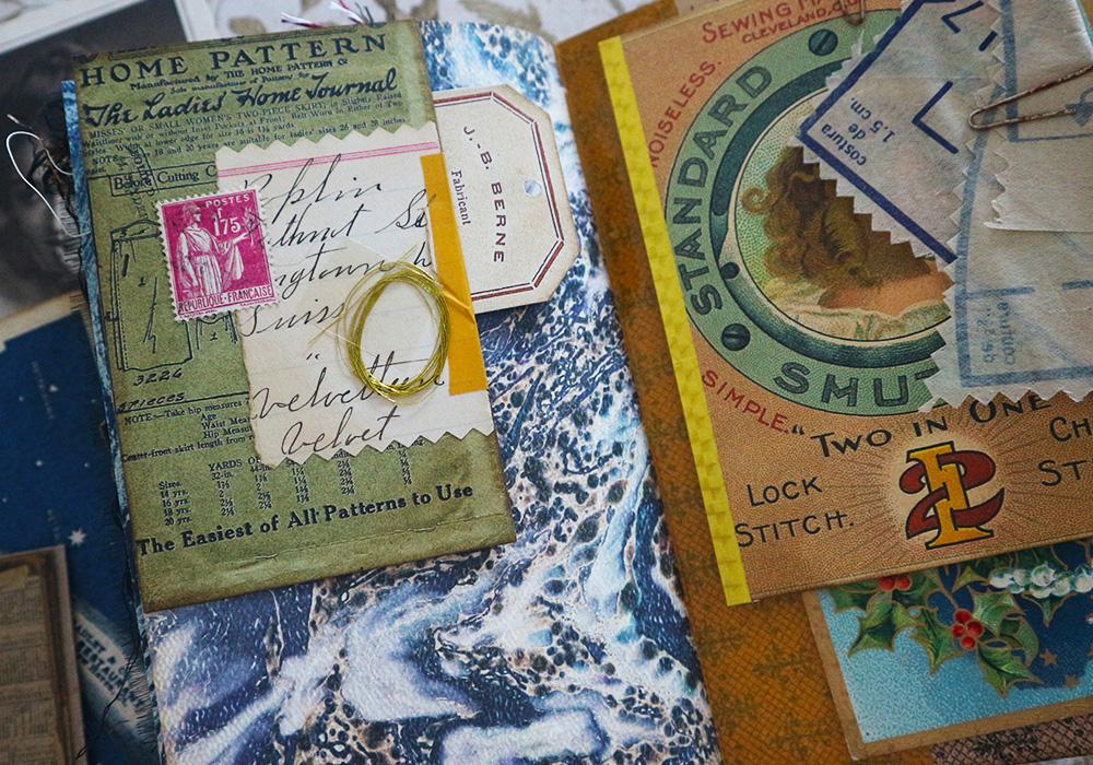 sewing ephemera vintage labels junk journal pages