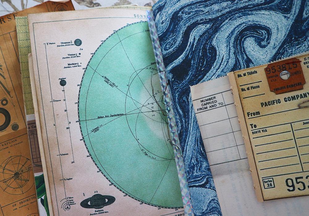 Celestial Junk Journal Luna Rozu ephemera