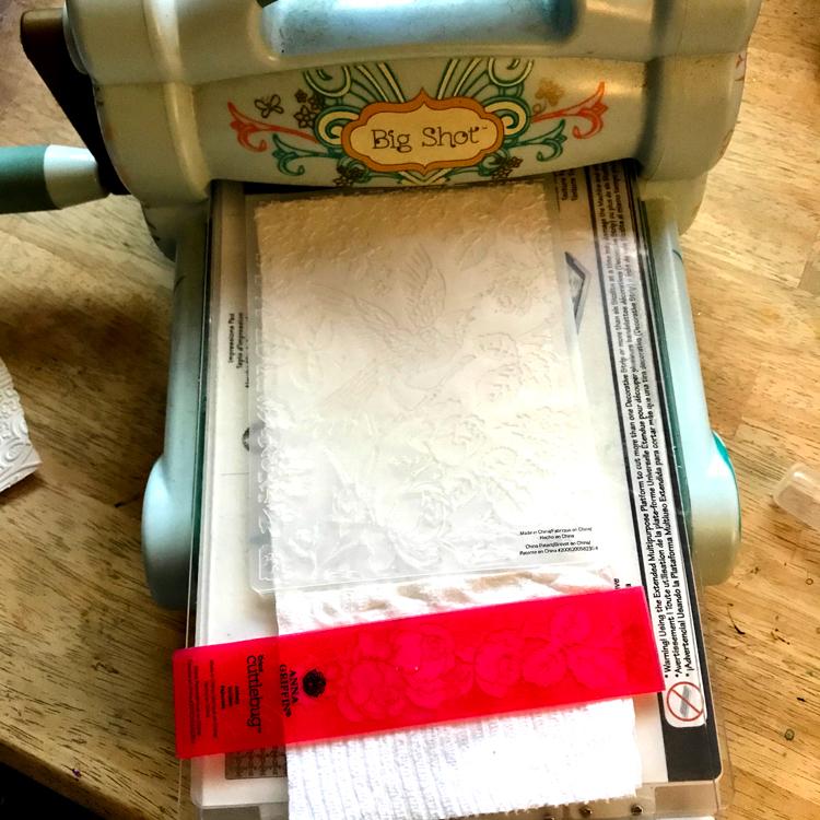 2 Embossing Folders No Waste