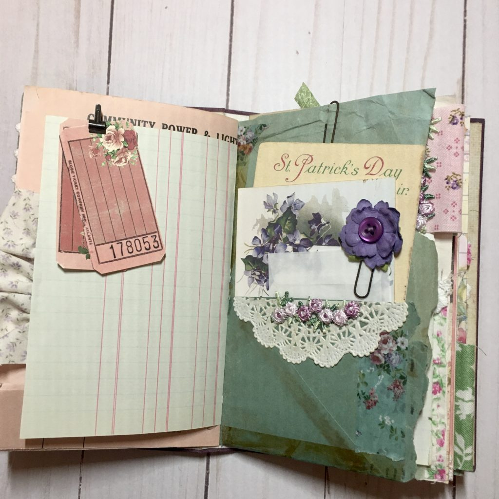 journal page pocket paper clip