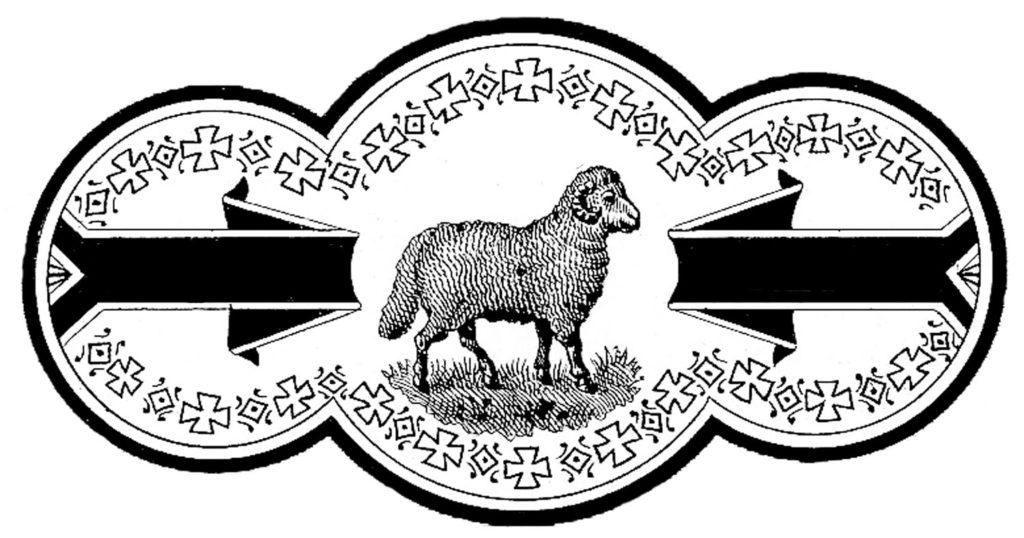 Black White Ram Label Clip Art