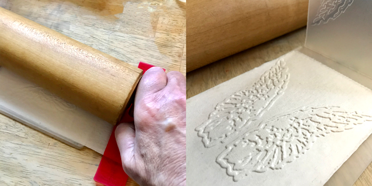 Emboss with Rolling Pin