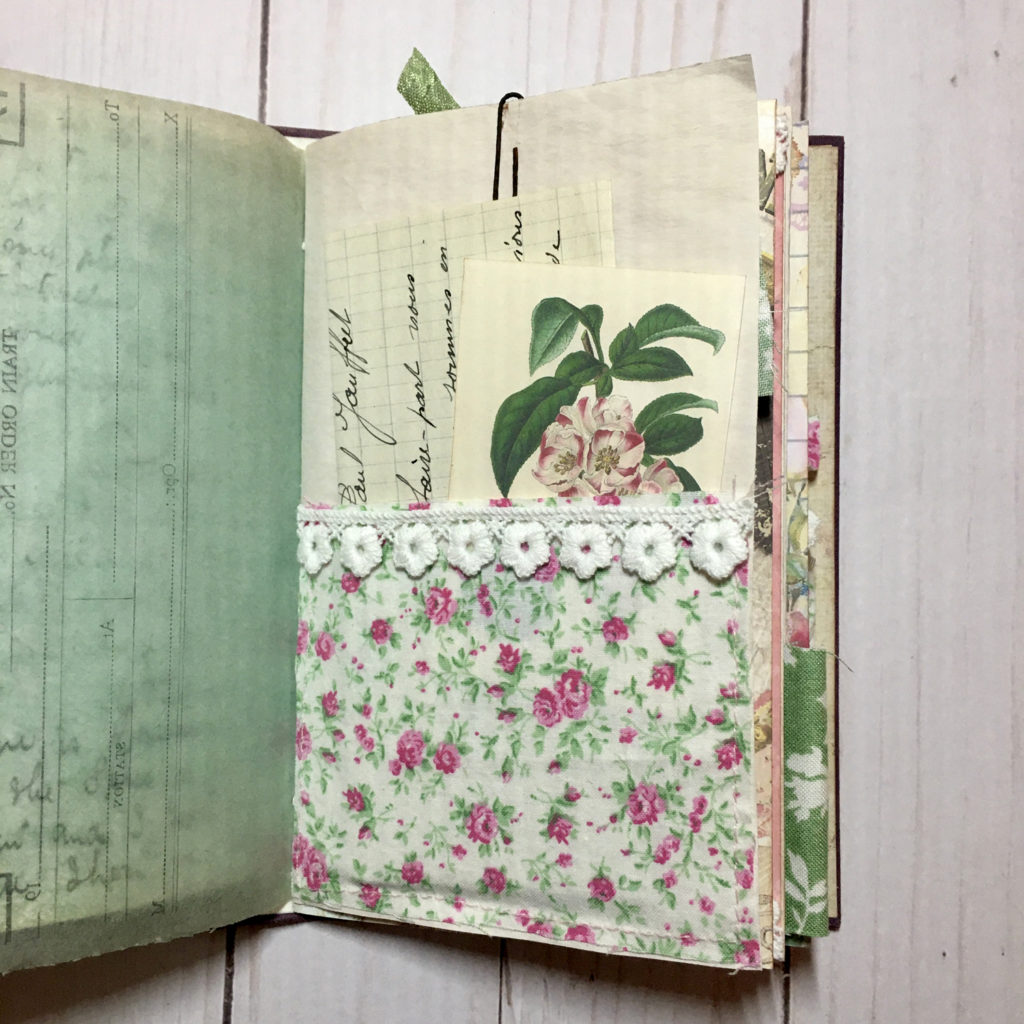 journal page floral image