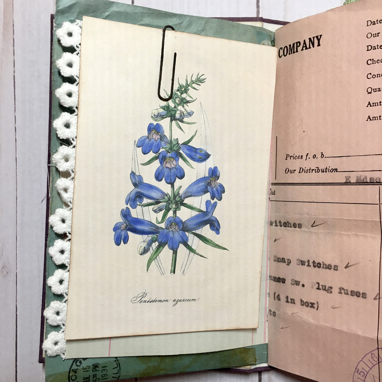 Floral Star Junk Journal