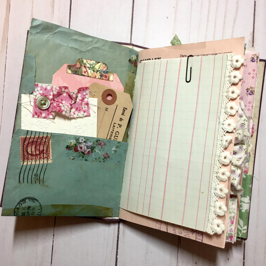journal page envelope pocket