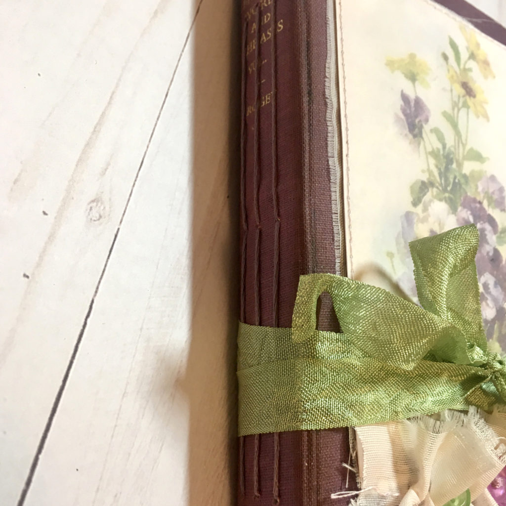 floral junk journal spine