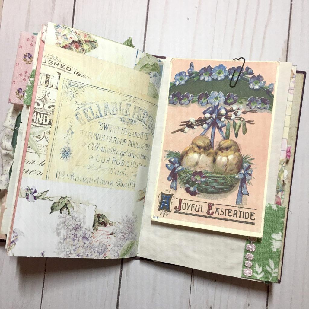 floral junk journal ephemera