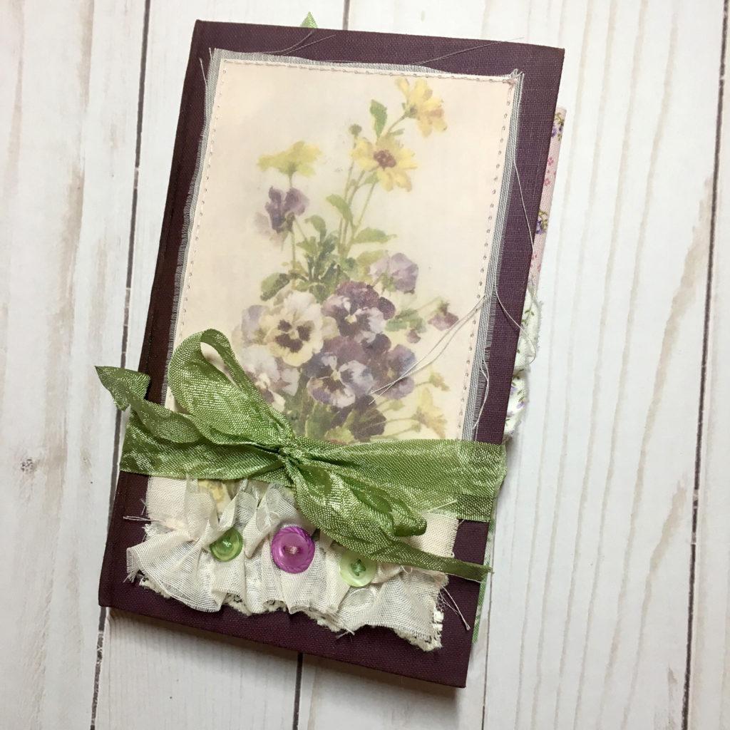 vintage floral junk journal