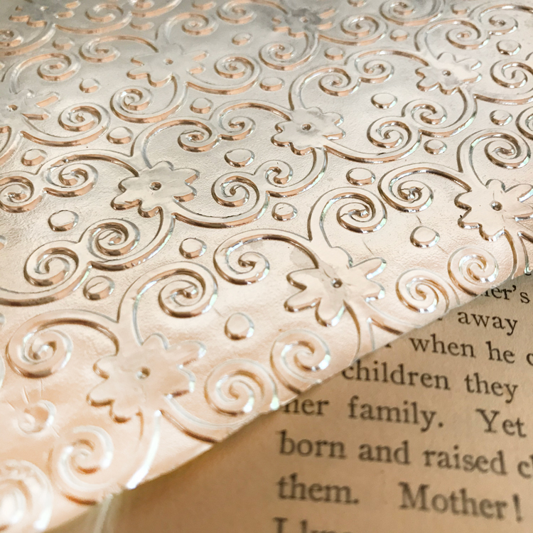 Foil Card on Book