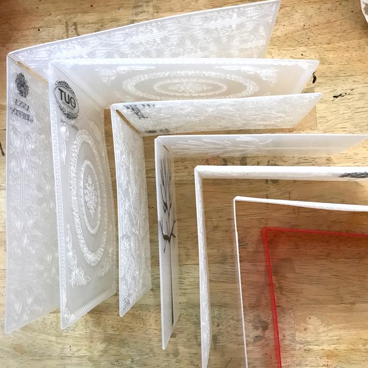 Embossing Folders Drying