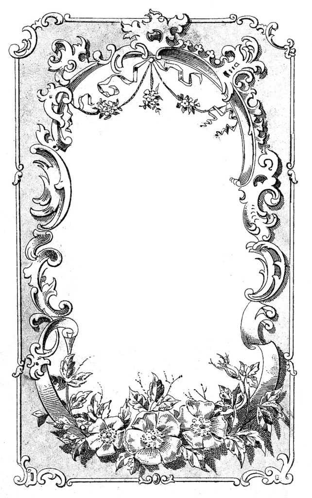 Baptism frame vertical image