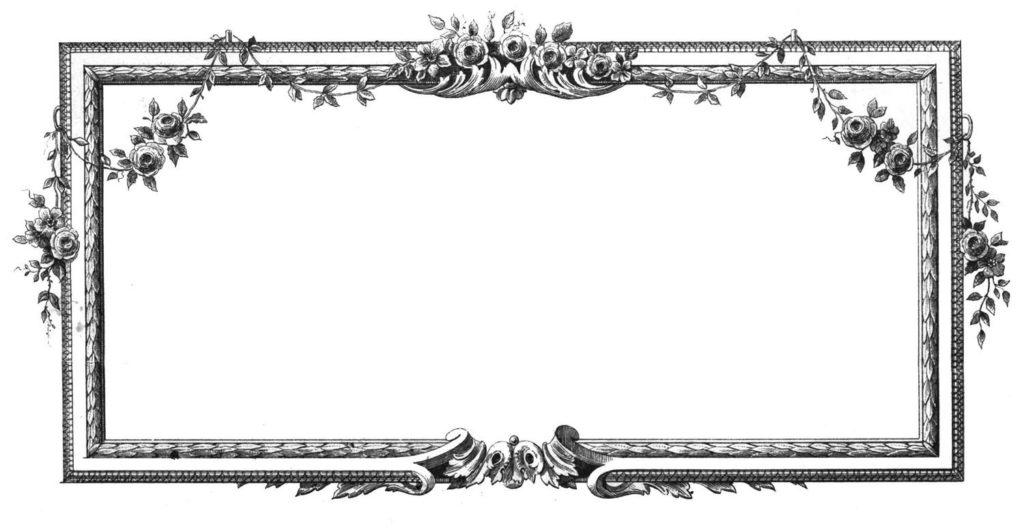 french flower frame image
