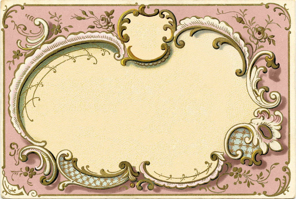 pink french vintage frame clipart