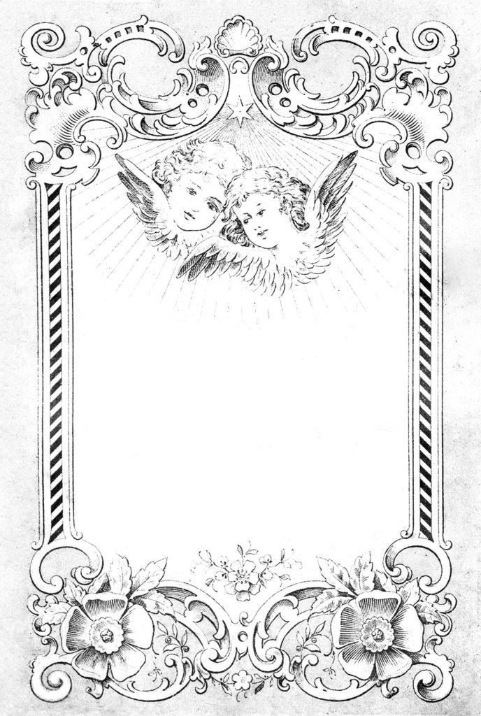 german frame angels black white image