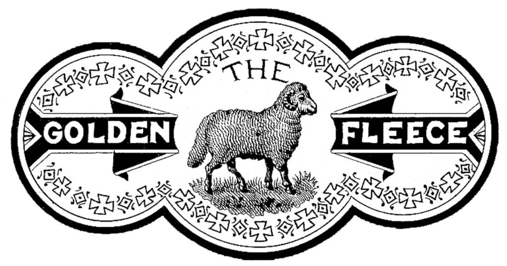 Golden Fleece Sheep Label Clipart
