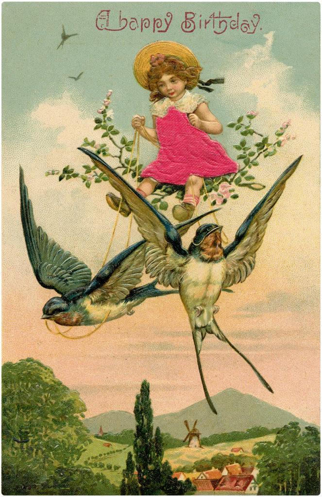 Happy Birthday Swallow Ride Image