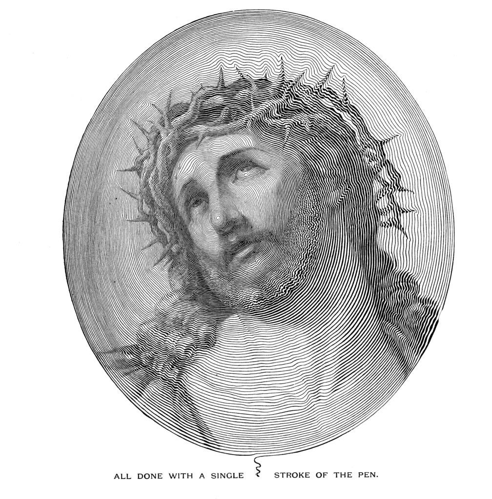 Jesus Sketch Black White Clipart