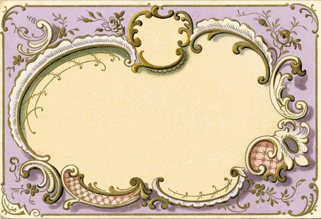 ornate french frame lavender image