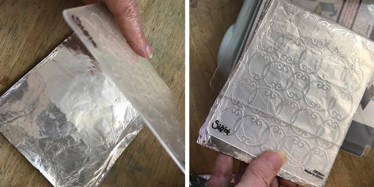 Place foil in Folder and Machine