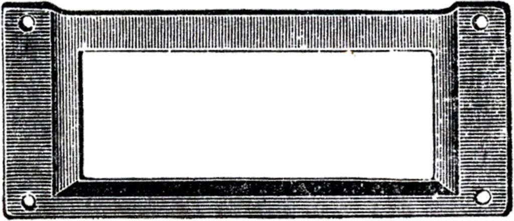 Vintage Metal Frame Clipart