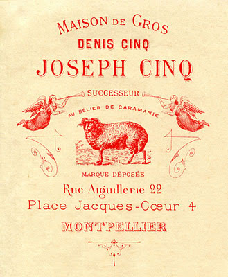vintage french sheep advertising image