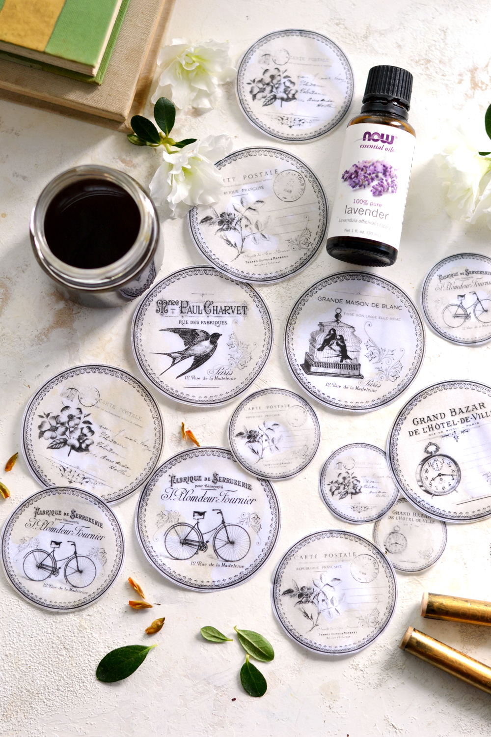 DIY Faux Vellum Scented Labels