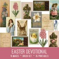 vintage Easter devotional ephemera bundle