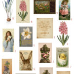 vintage Easter devotional ephemera digital image bundle