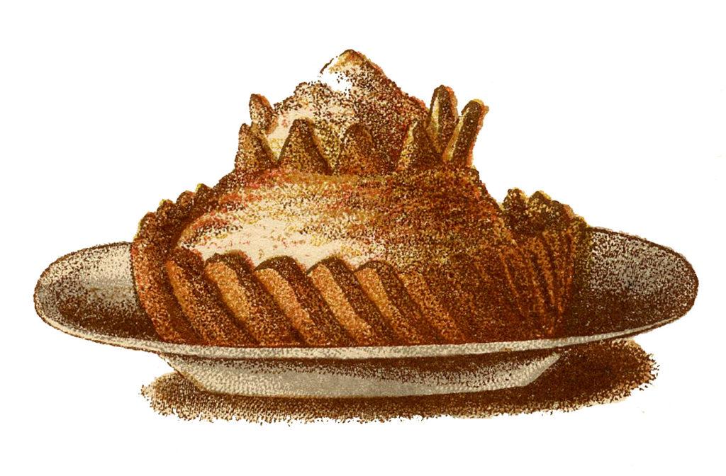 fancy victorian dessert illustration