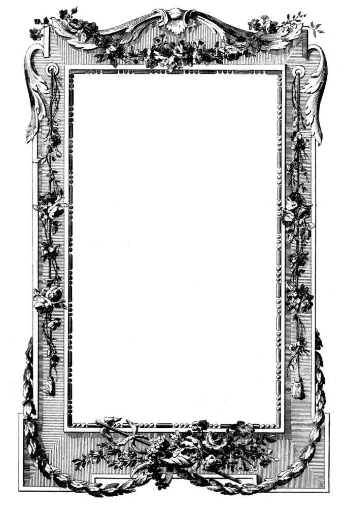 french frame vintage clip art