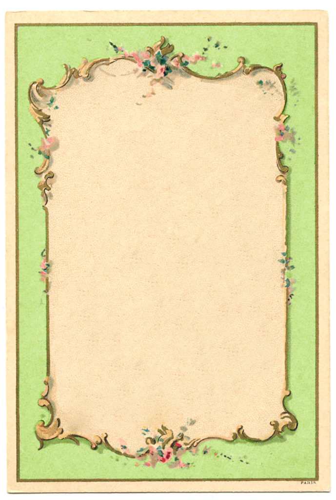 french green vintage frame image