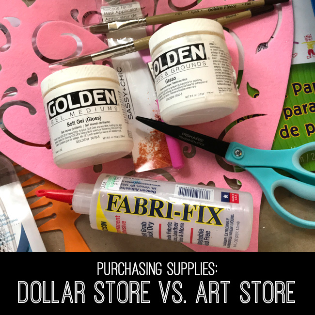Purchasing Supplies Dollar Store vs Art Store Tutorial