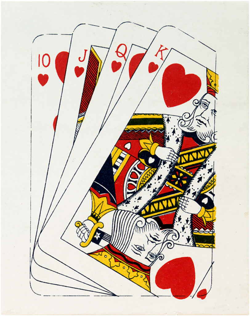 antique playing card deck image