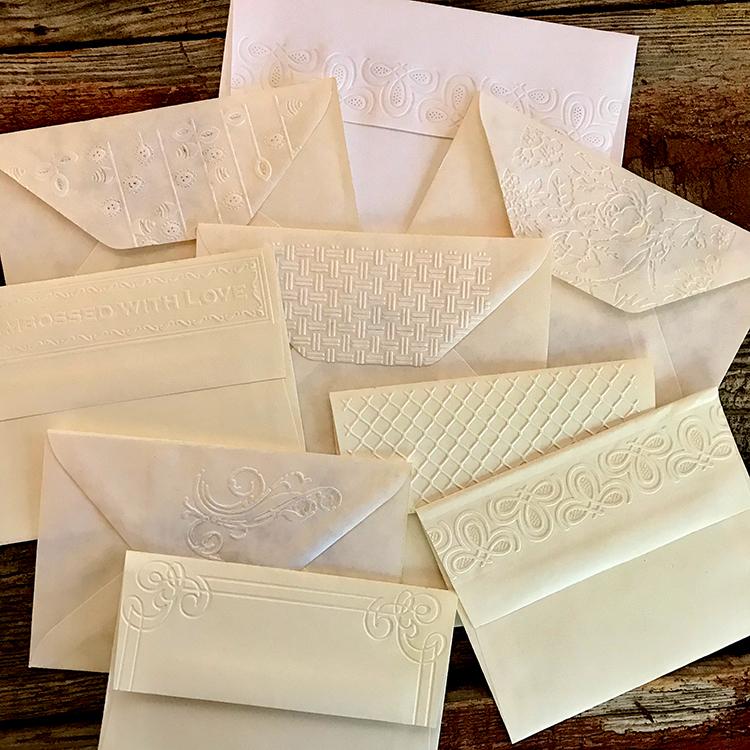 Embossed Envelope Flaps
