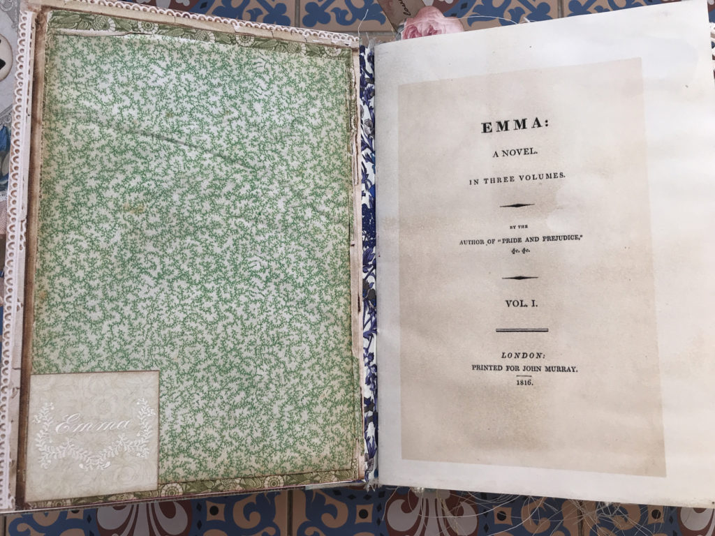 Emma Junk Journal Endpapers