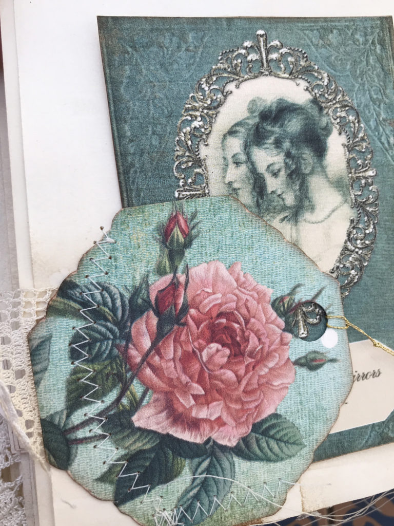 Emma Junk Journal rose ephemera page