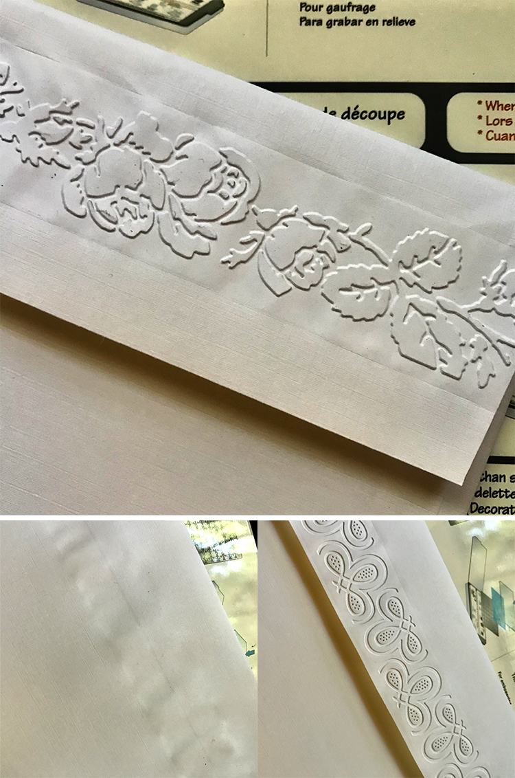 OOPS Too Large Envelopes Marred by embossing
