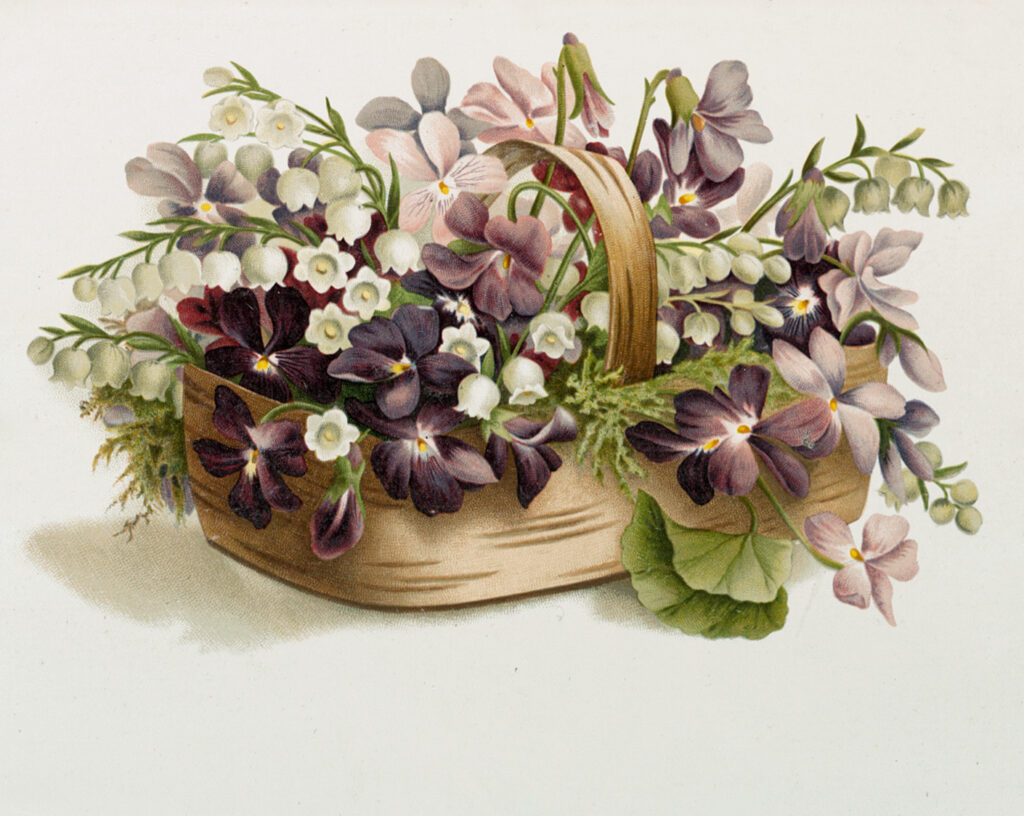 Purple Flower Basket Image