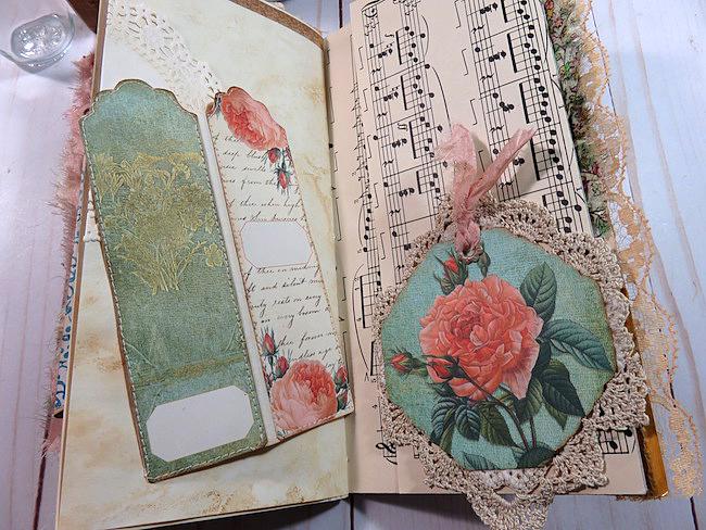 bookmark fold out hidden journaling spot