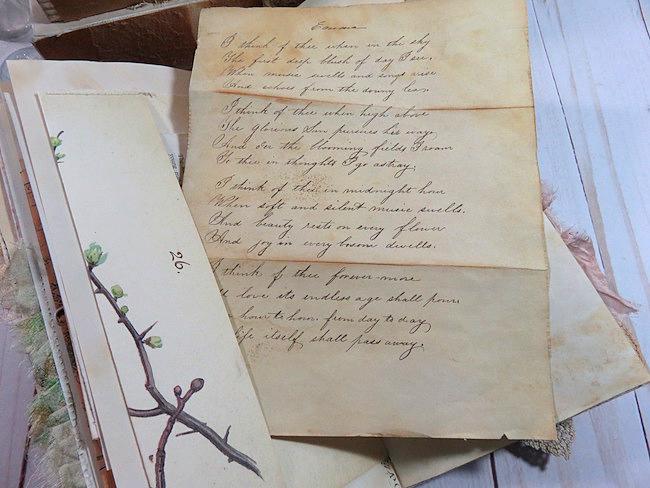 Emma Poem Vintage Ephemera