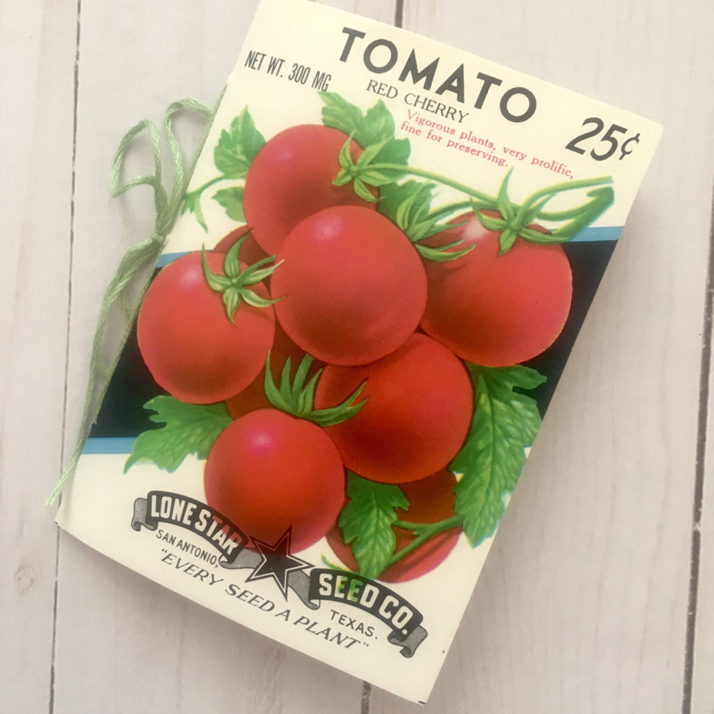 Tomato Seed Packet booklet image