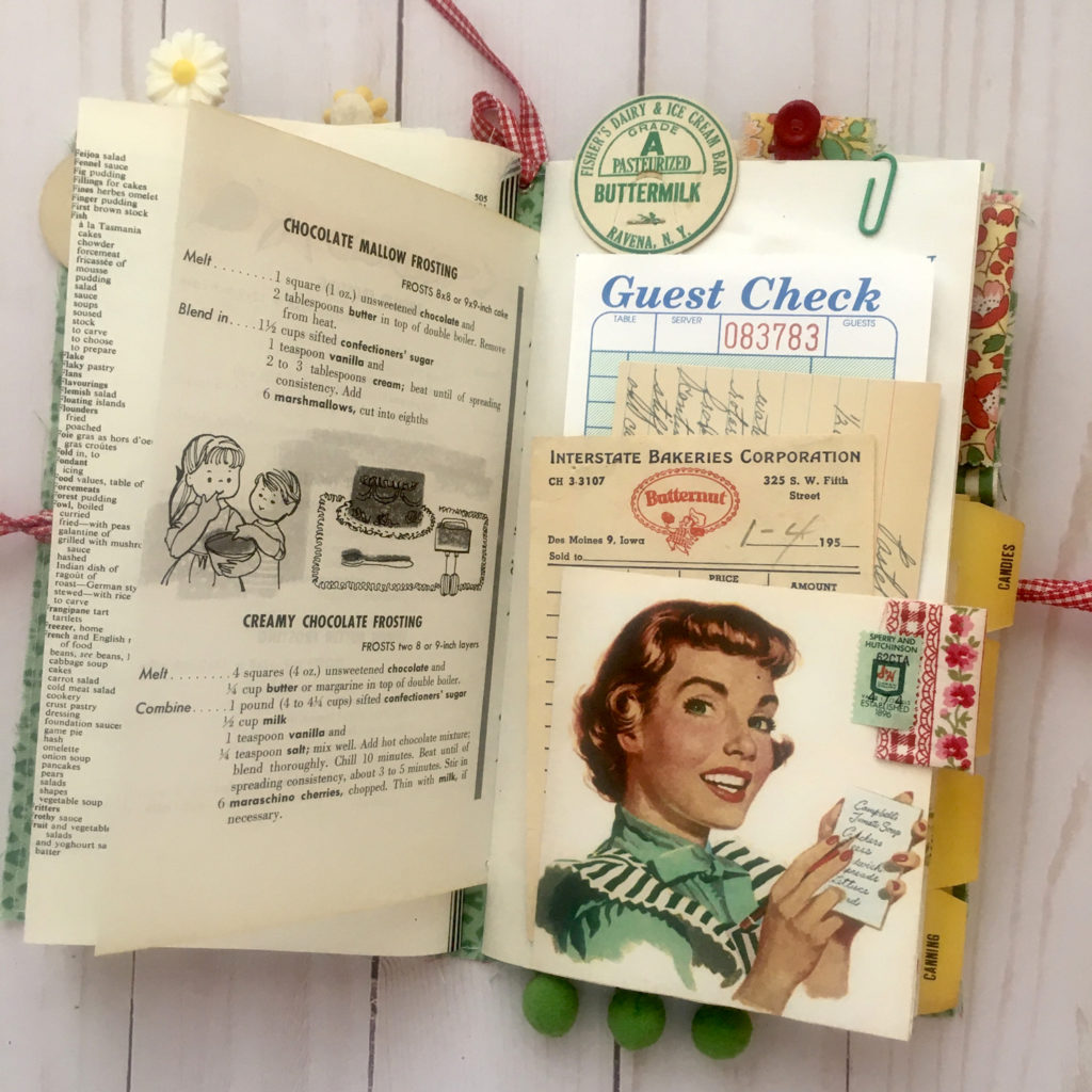 retro kitchen journal ephemera page